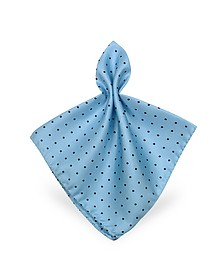 Polkadot Twill Silk Pocket Square - Forzieri