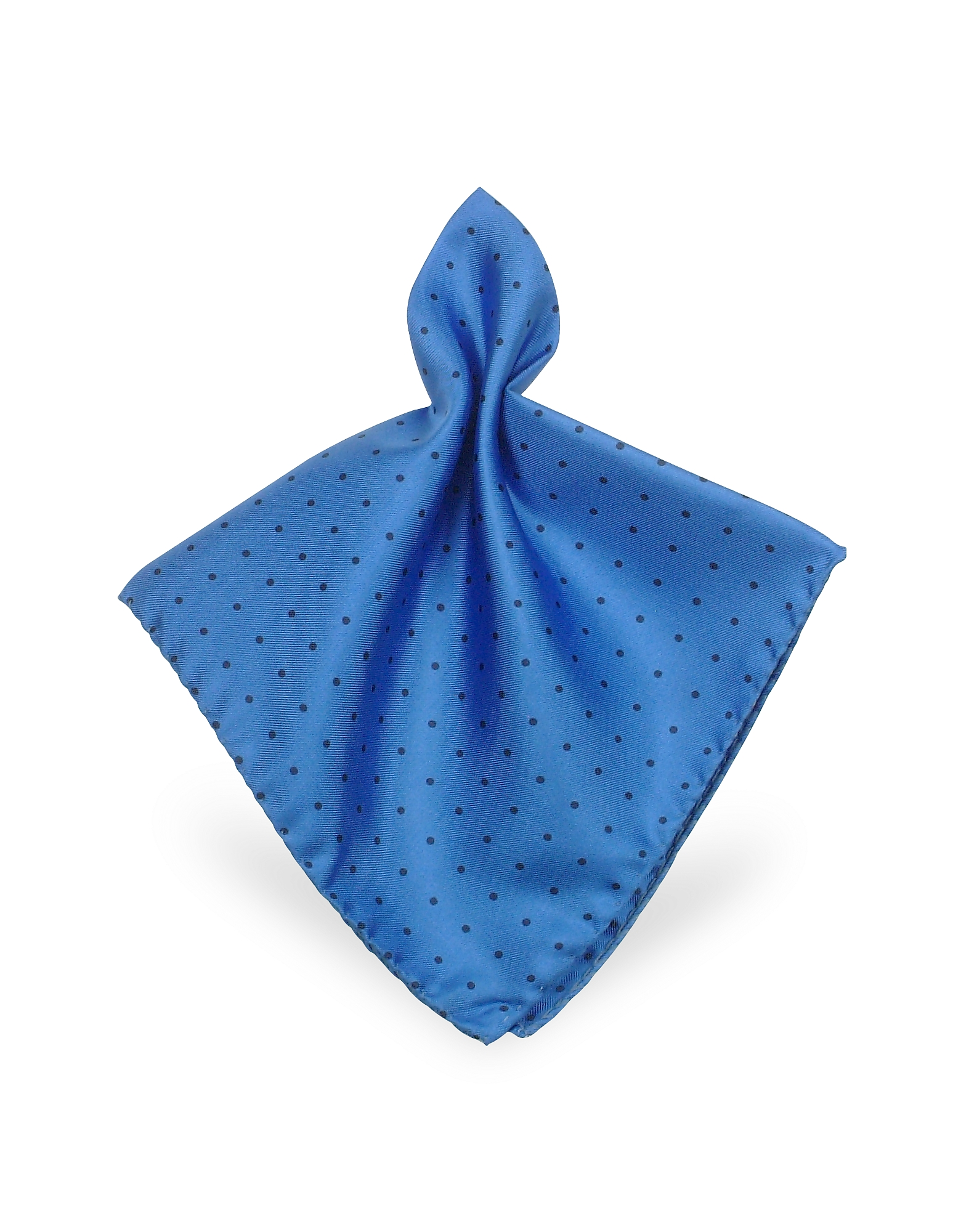 Forzieri Pocket Squares, Polkadot Twill Silk Pocket Square