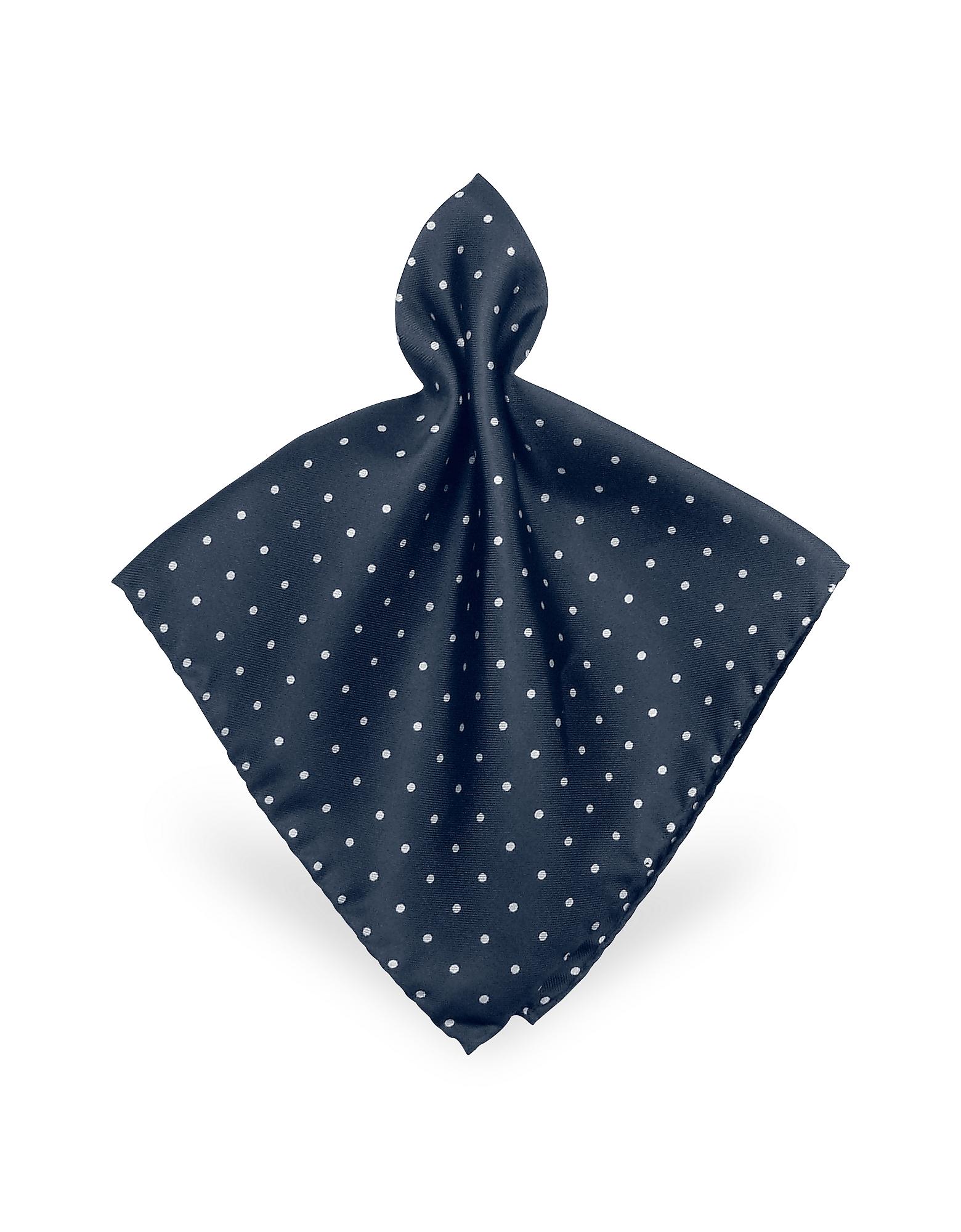 Forzieri Pocket Squares, Polkadot Twill Silk Pocket Square