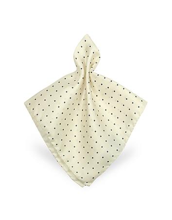 Forzieri - Polkadot Twill Silk Pocket Square