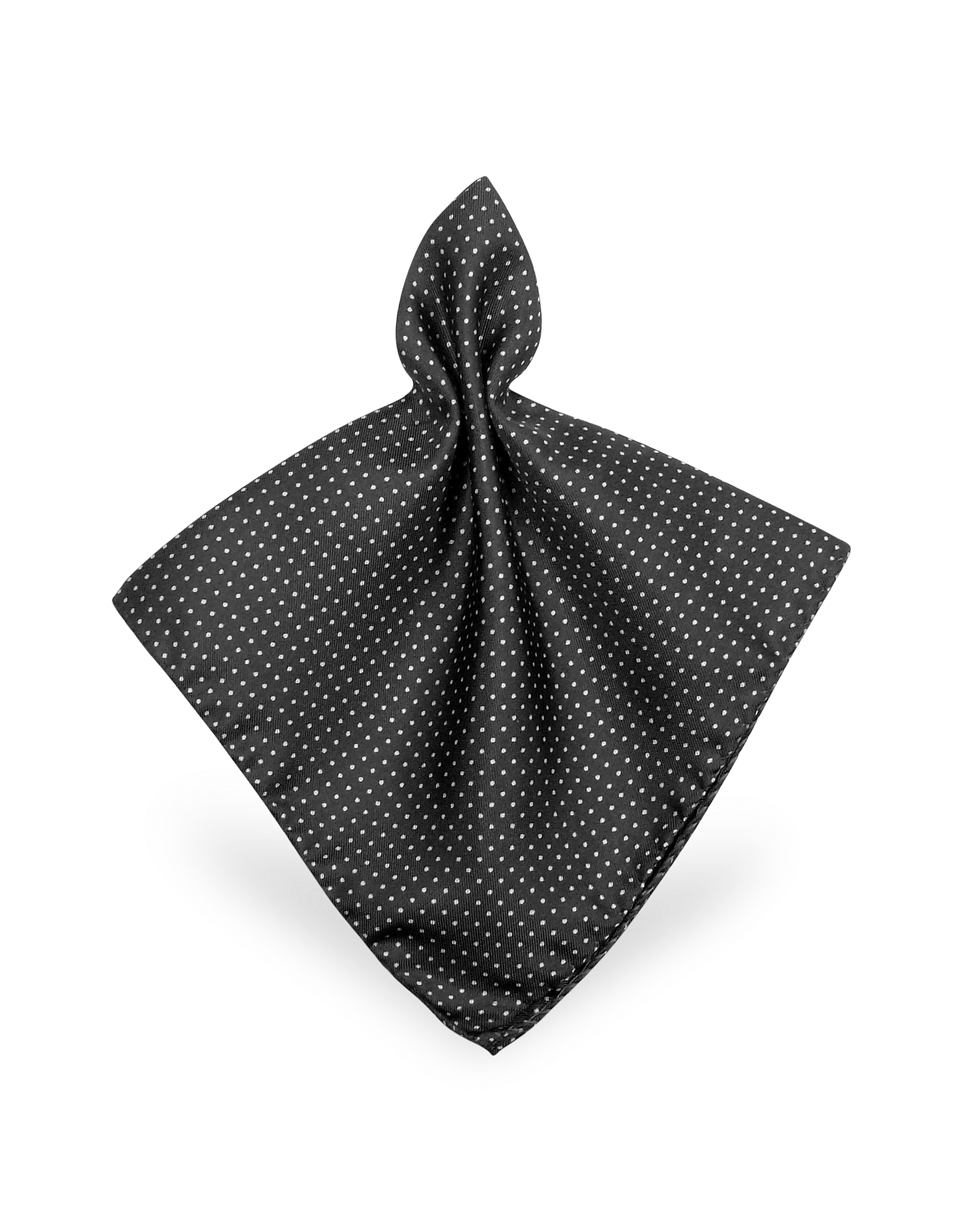 Forzieri Pocket Squares, Mini Polkadot Twill Silk Pocket Square