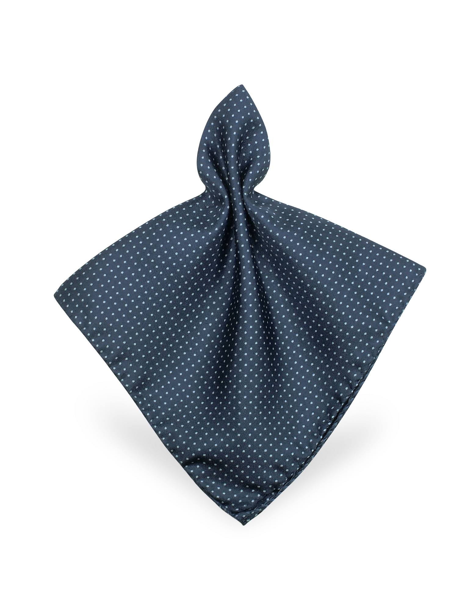 Image of Forzieri Designer Pocket Squares, Mini Polkadot Twill Silk Pocket Square