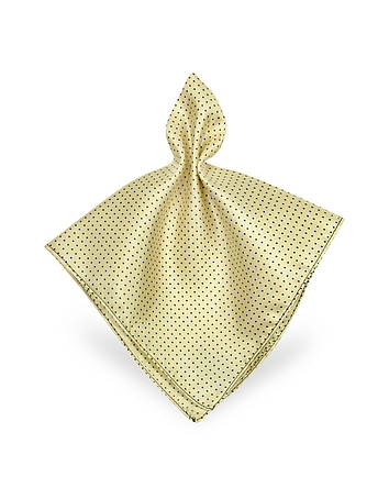 Mini Polkadot Twill Silk Pocket Square