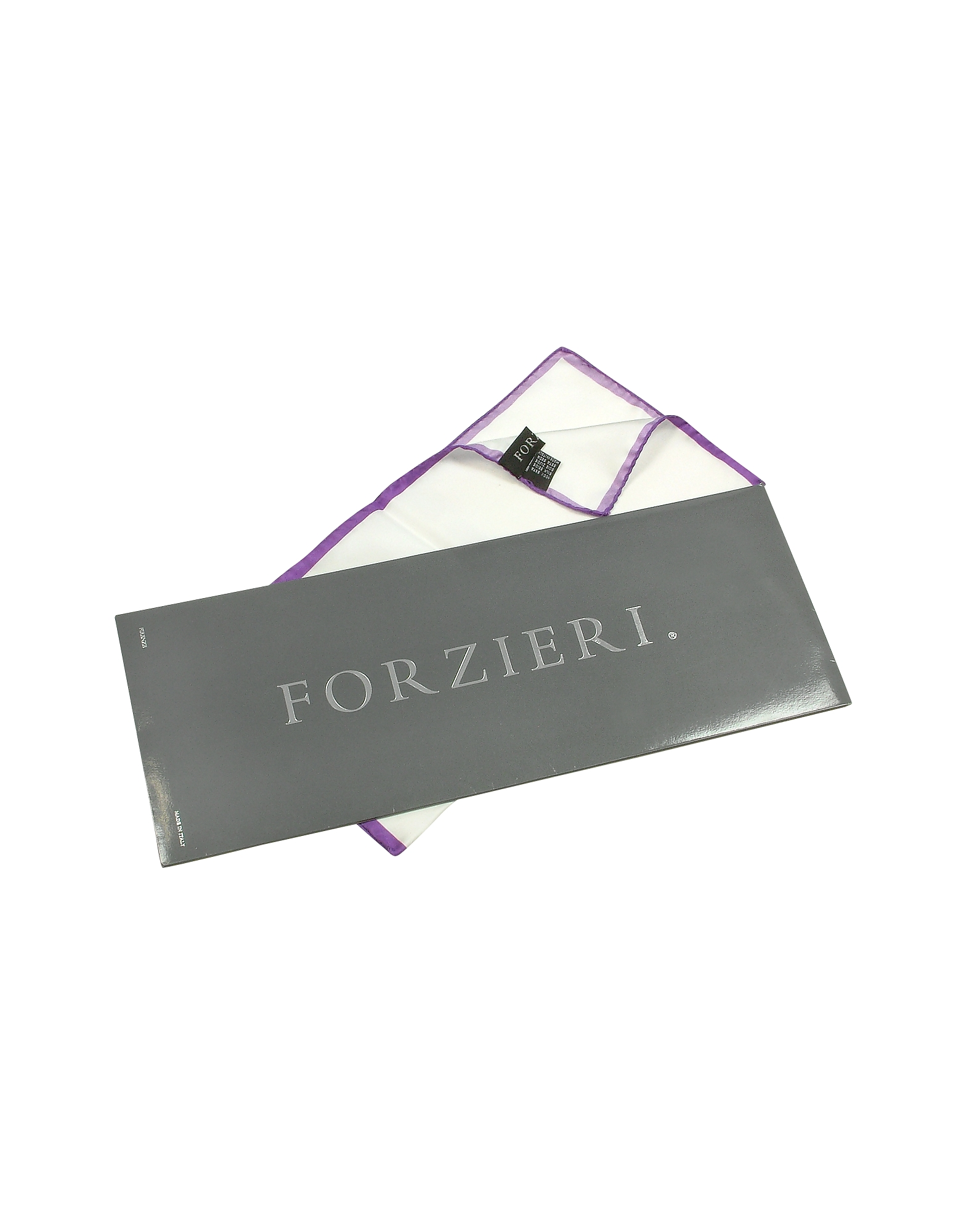 Framed Solid White Silk Pocket Square от Forzieri.com INT