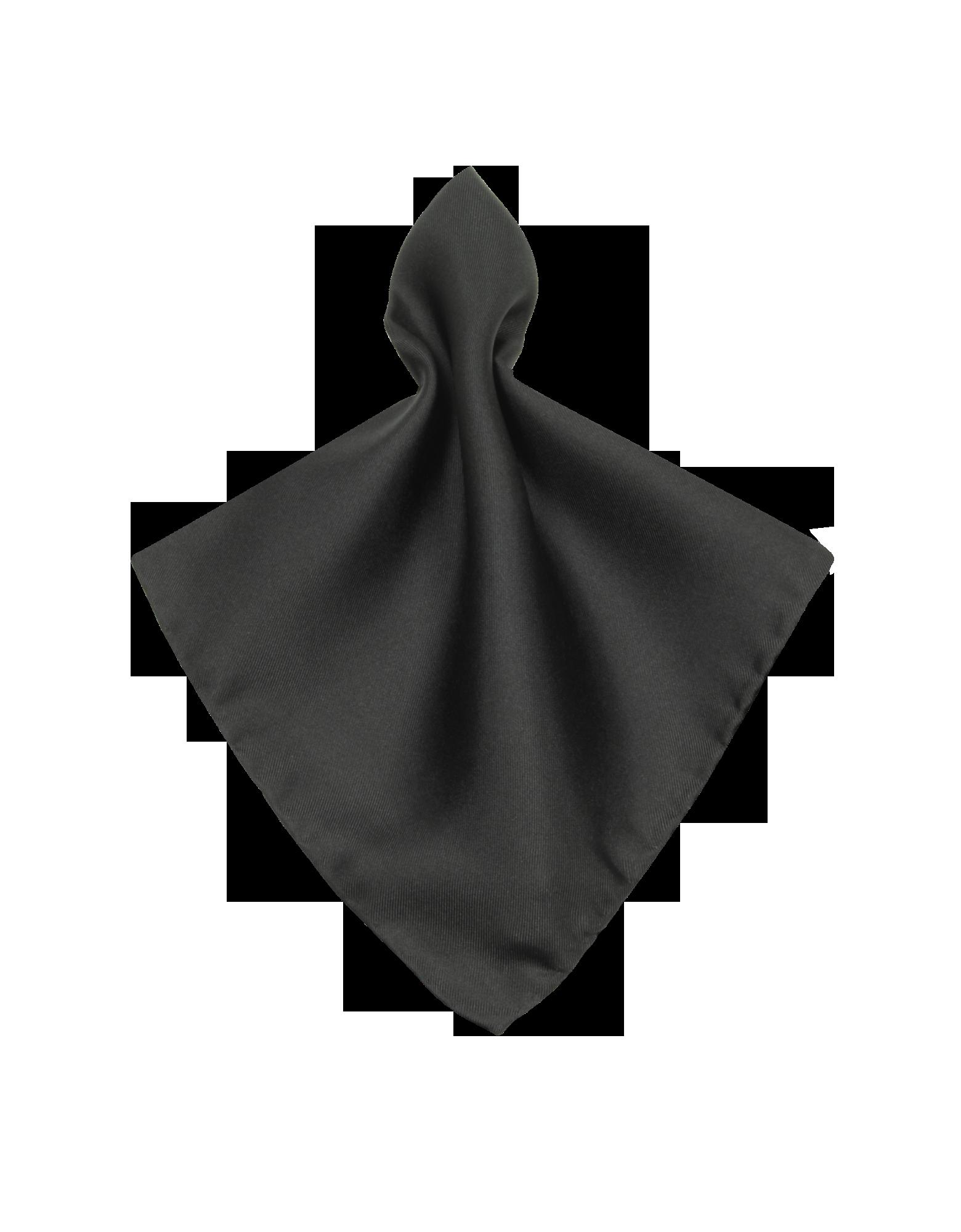 Image of Black Silk Pocket Square