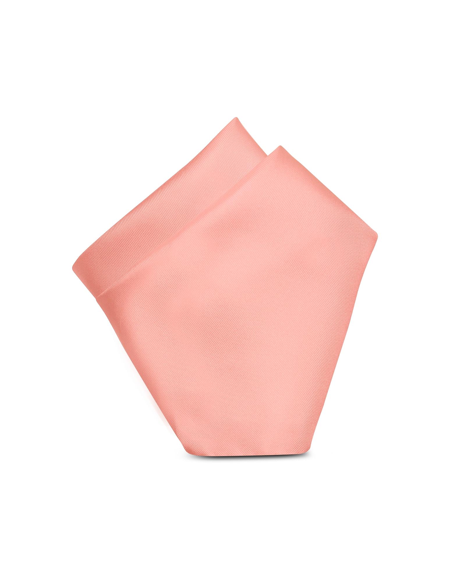 Forzieri Designer Handkerchiefs, Solid Silk Pocket Square