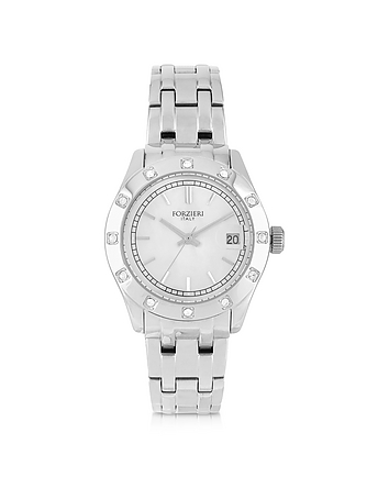Forzieri - Roma Stainless Steel and Crystals Women's Watch