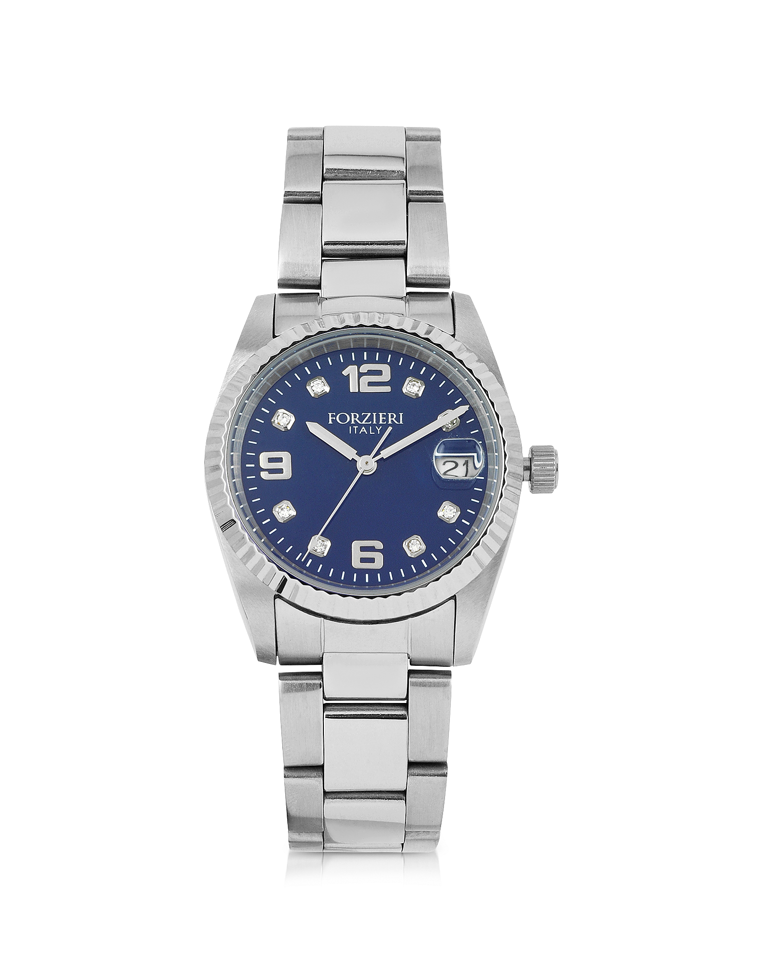 Forzieri Designer Women's Watches, Sabina Silver Tone Stainless Steel Women's Watch