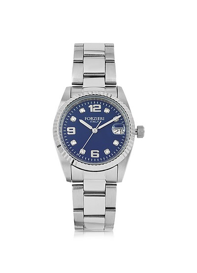 Sabina Silver Tone Stainless Steel Women's Watch - Forzieri
