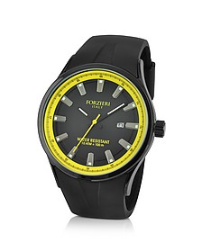 Black Rubber Strap Date Watch  - Forzieri
