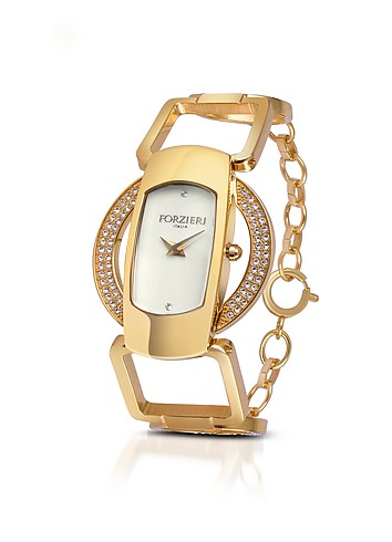 Forzieri Venusia - Swarovski Crystal Bracelet Dress Watch :  swarovski womens gold accessories