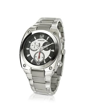 Men's Stainless Steel Bracelet Chronograph Watch