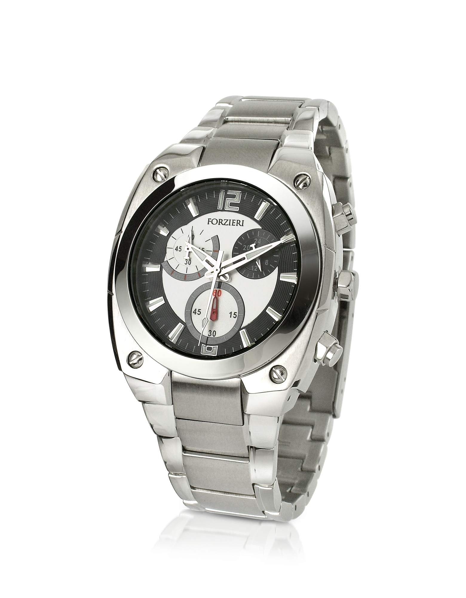 Forzieri Men's Watches, Men's Stainless Steel Bracelet Chronograph Watch