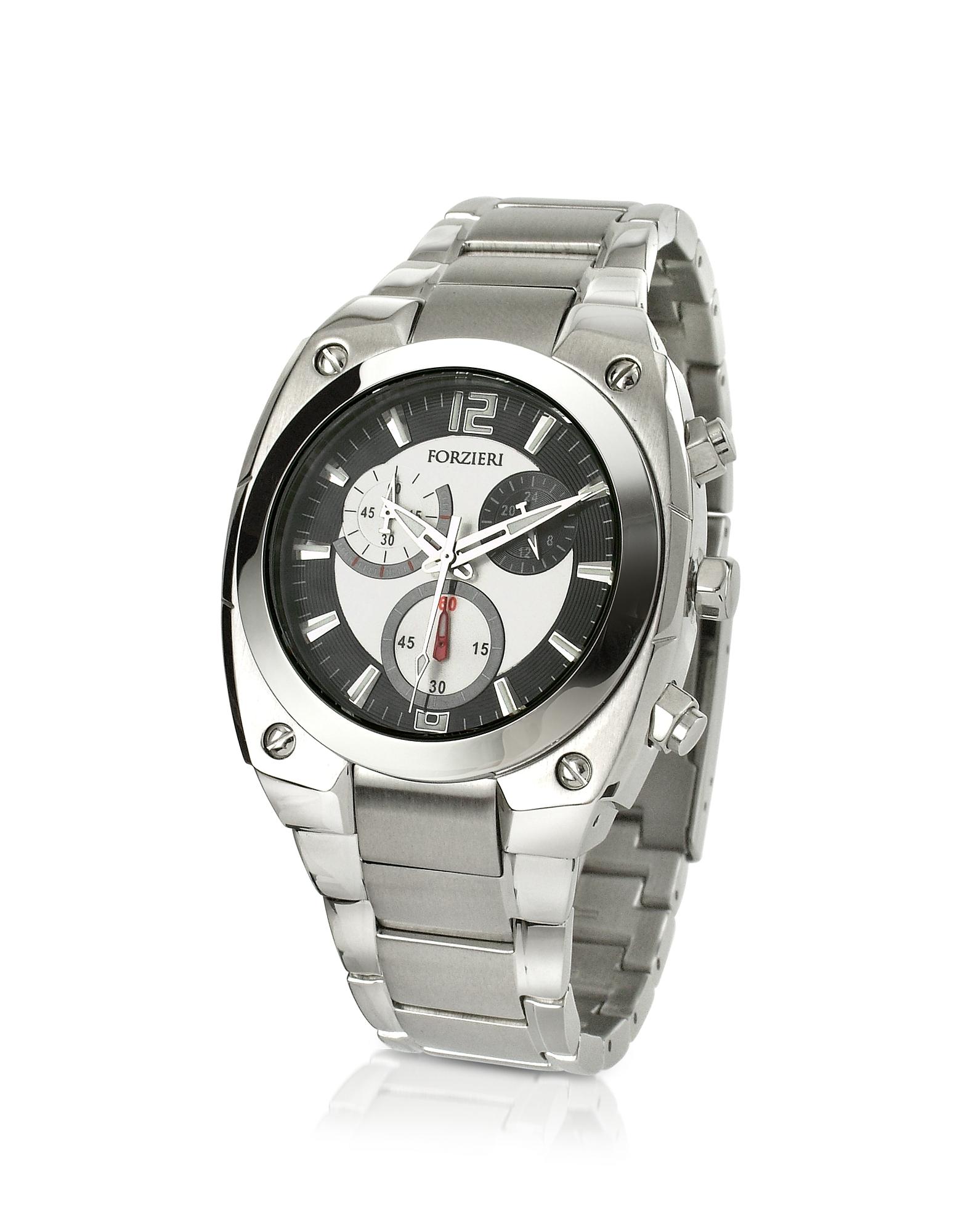 Men's Stainless Steel Bracelet Chronograph Watch