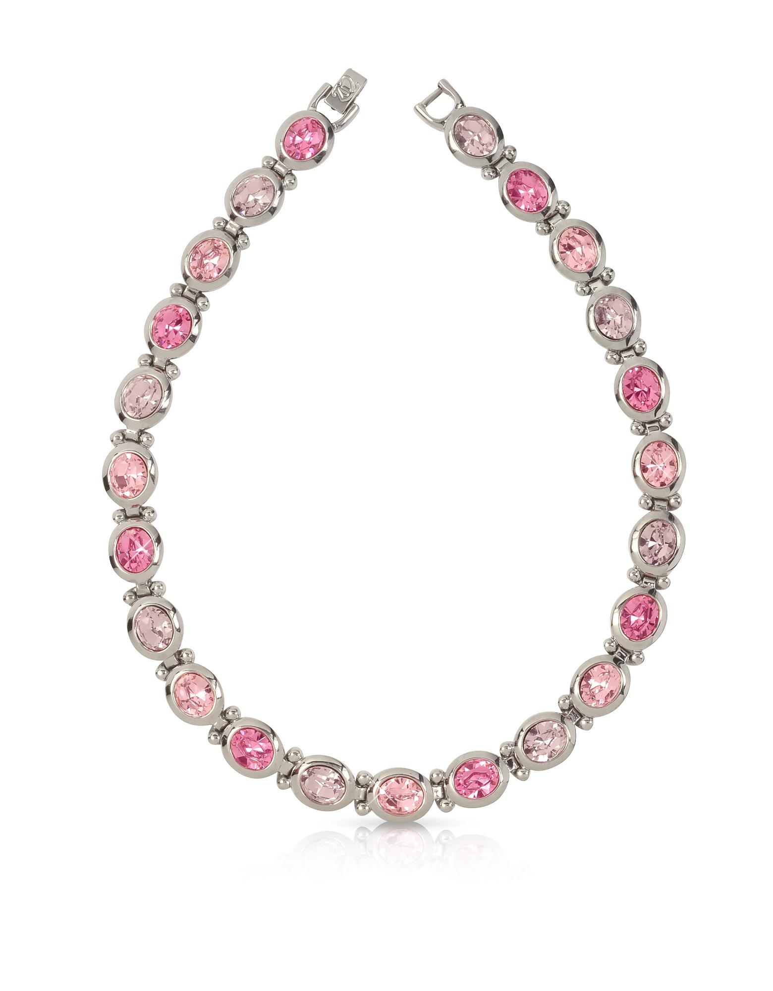 Ожерелье с Розовыми Кристаллами