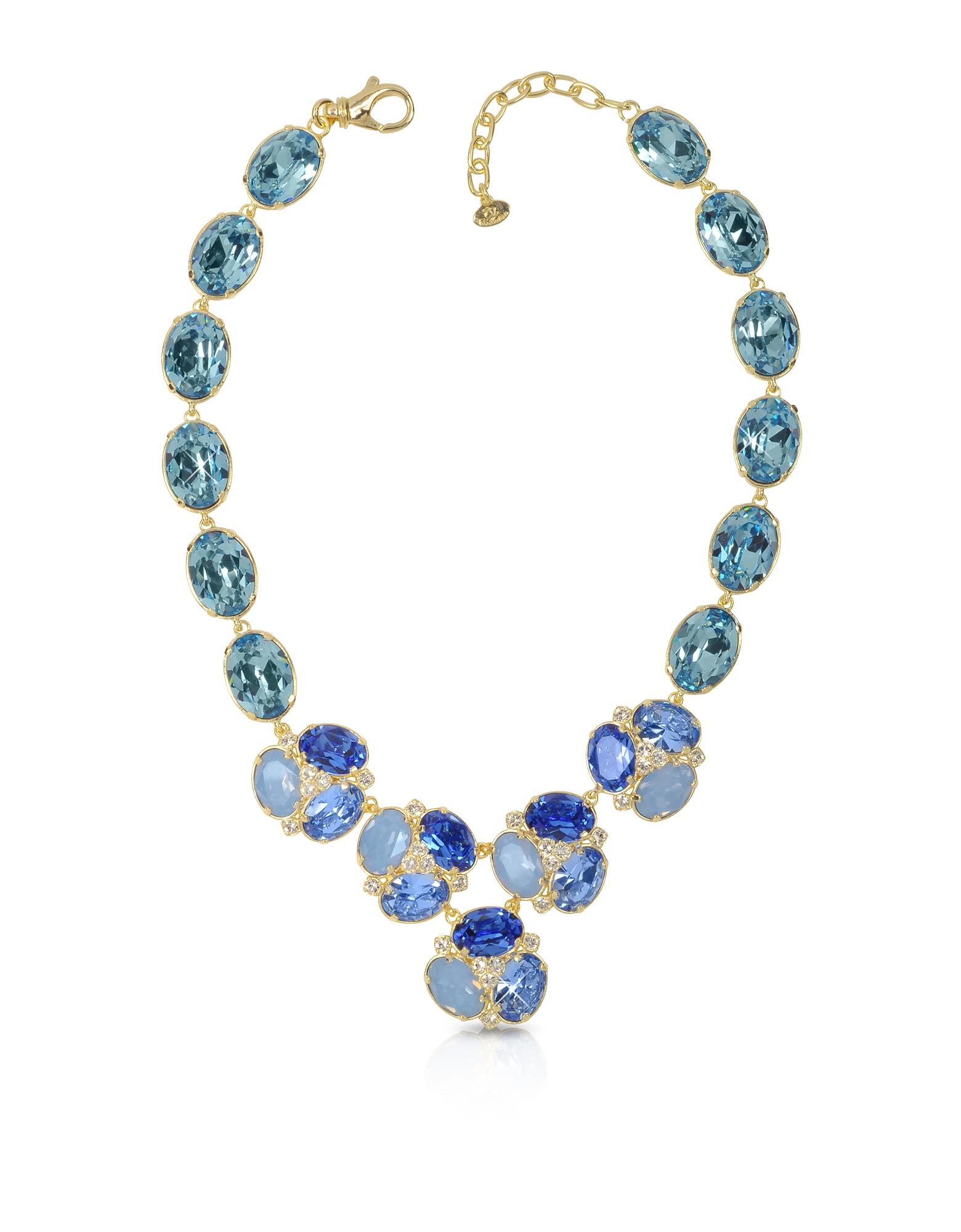 Ожерелье с Синими Кристаллами