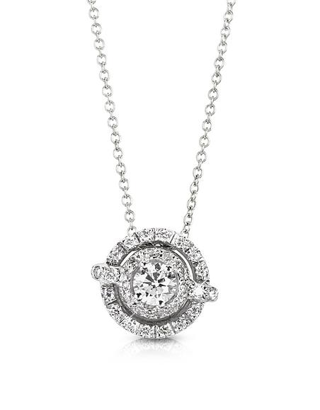 Forzieri Collier en Or Blanc et Diamants