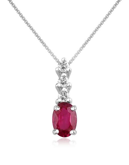 Incanto Royale Victoria - Collier en or 750 avec pendentif diamant et rubis