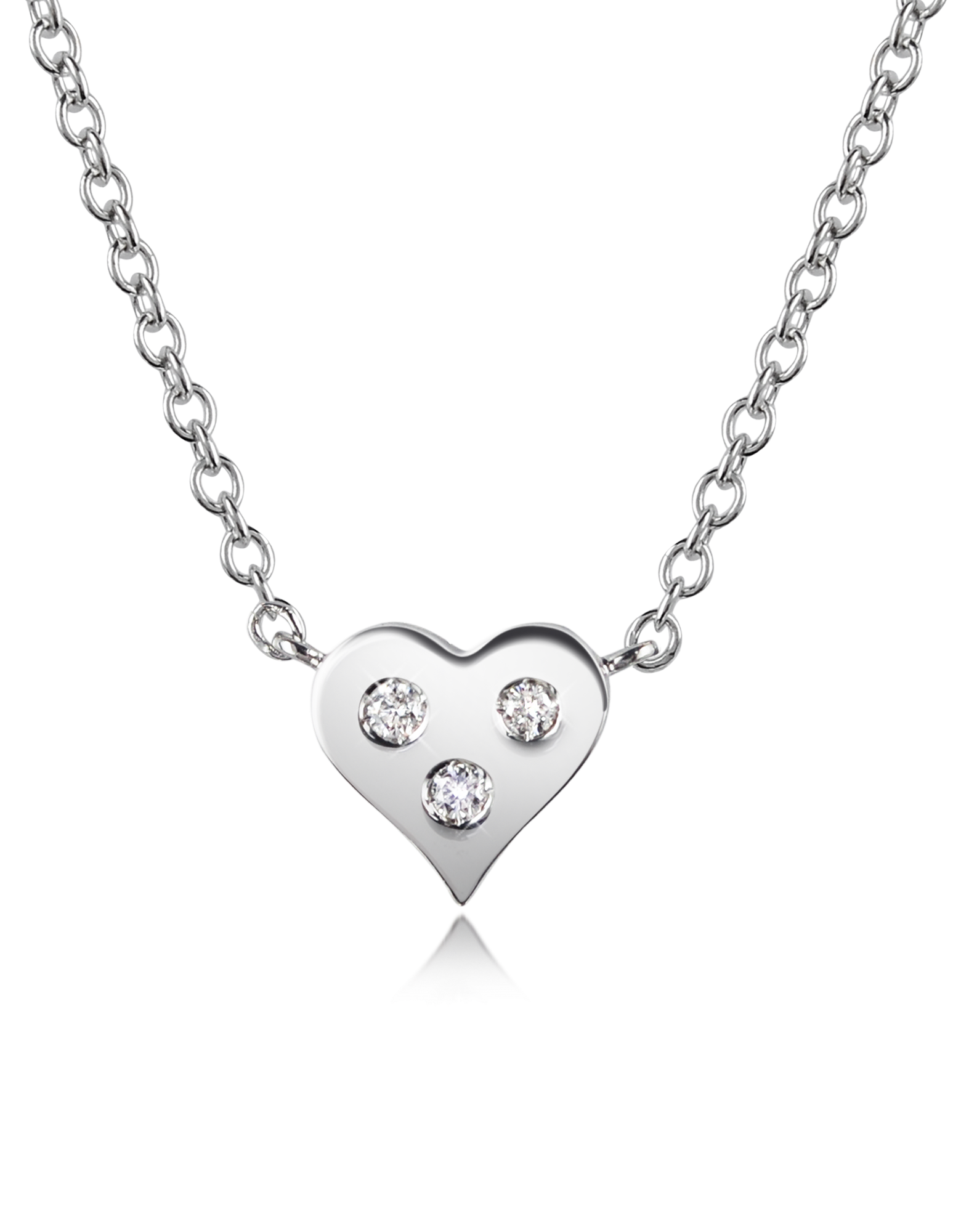 Image of 0.05 ct Diamond Heart Pendant Necklace