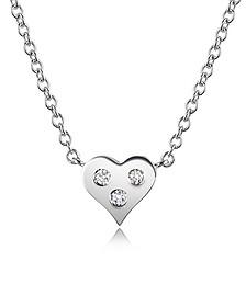0.05 ct Diamond Heart Pendant Necklace - Forzieri