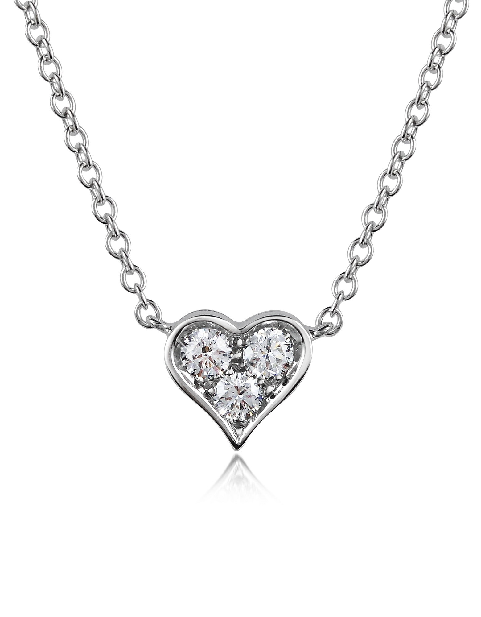Forzieri Necklaces, 0.31 ct Diamond Heart Pendant Necklace