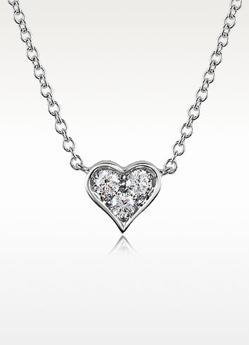 0.31 ct Diamond Heart Pendant Necklace - Forzieri