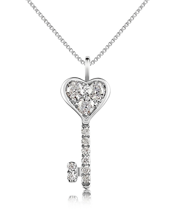 Forzieri - 0.41 ct Diamond Key Pendant Necklace