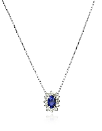 Incanto Royale - Diamond and Sapphire Drop 18K Gold Necklace
