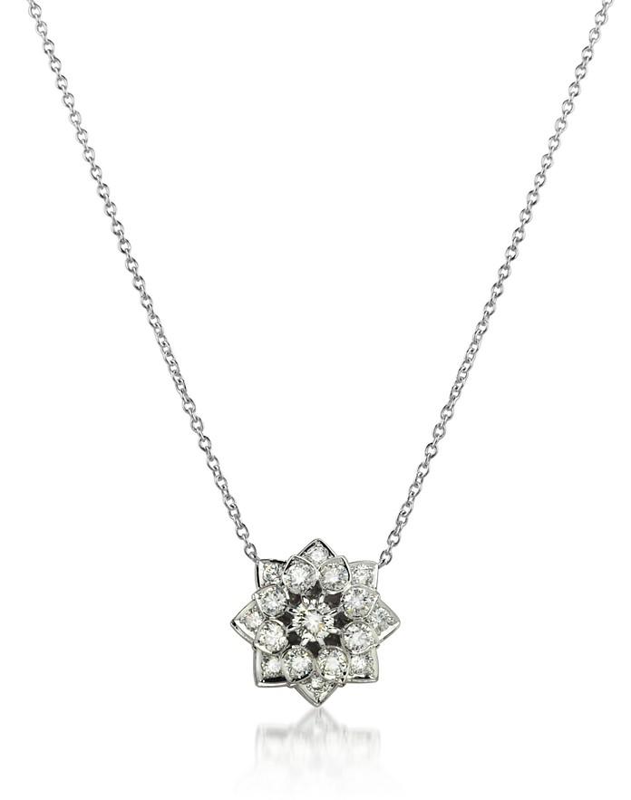 1.35 ctw Diamond 18K Gold Necklace - Incanto Royale