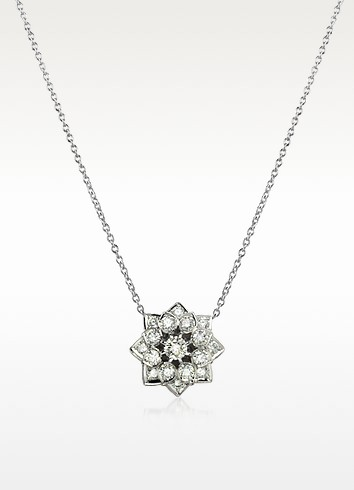1.35 ctw Diamond 18K Gold Necklace - Incanto Royale
