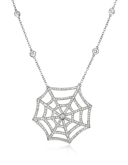 Incanto Royale Collier Forme Toile d'Araignée en Or Blanc 18K et Diamants