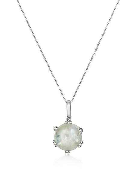 Mia Beverly Halskette aus 18k Gold mit Diamanten und Rubin
