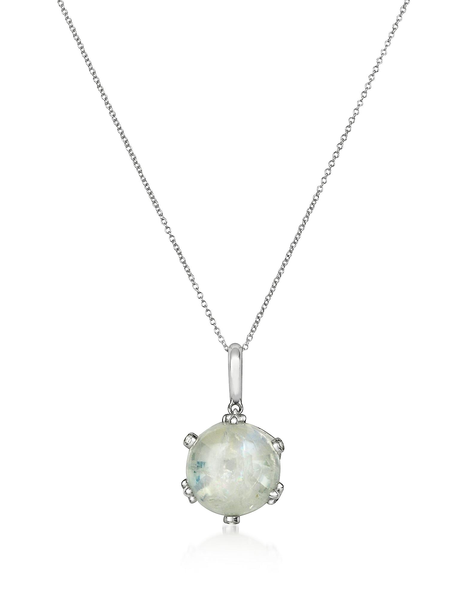 Ожерелье из Золота 18 карат с Бриллиантами и Спектролитом