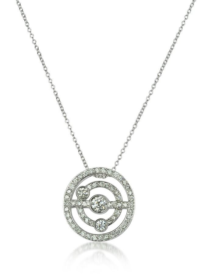 0.42 ctw Diamond 18K Gold Charm Necklace - Incanto Royale