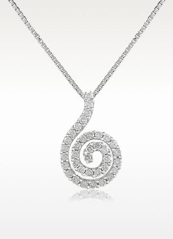 0.22 ct Diamond 18K Gold Coil Pendant Necklace - Forzieri
