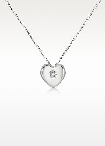 0.15 ct Diamond Heart 18K Gold Necklace - Forzieri