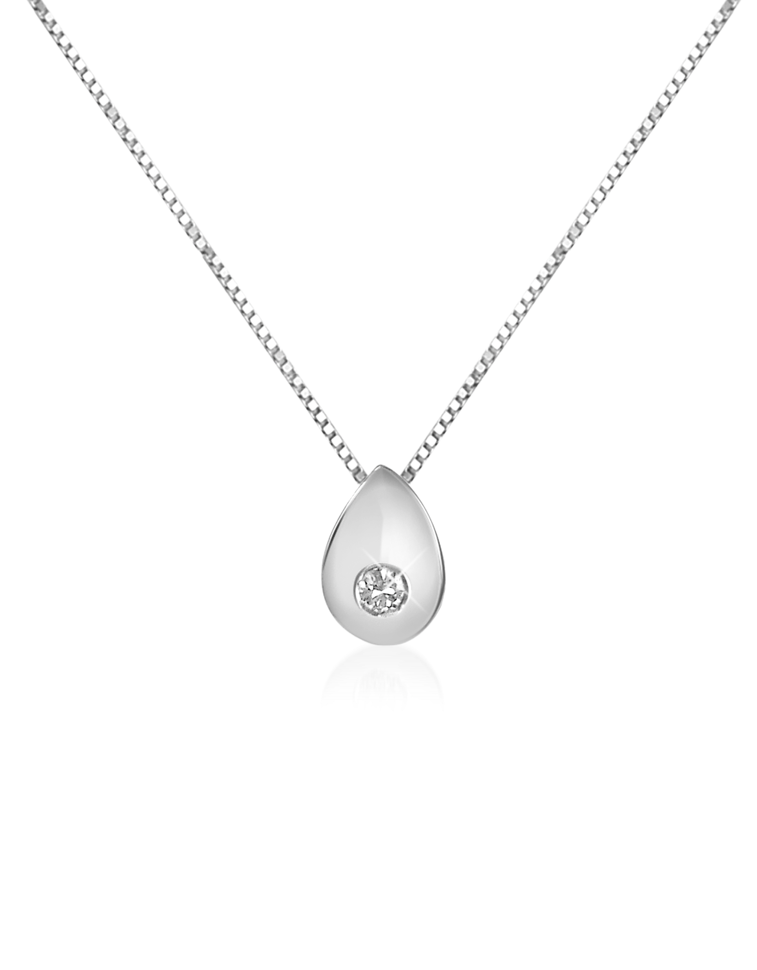 Image of 0.02 ct Diamond Drop 18K Gold Necklace