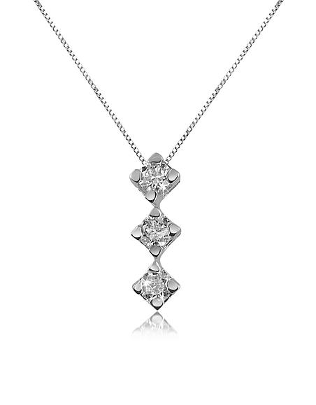 Forzieri Princess - Collier en or 750 avec pendentif et perle diamant 0.12 Ct