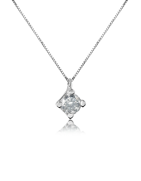 Forzieri Princess - Collier en or 750 avec pendentif et diamant 0.15 Ct