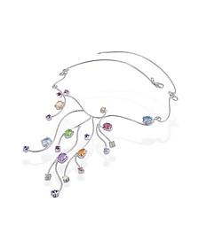 Sterling Silver Multi-Gemstones Necklace - Forzieri