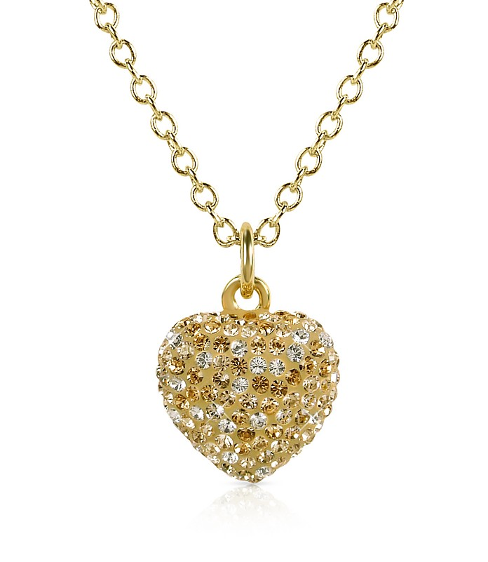 Fantasmania - Crystal Heart Pendant Necklace - Gisèle St.Moritz