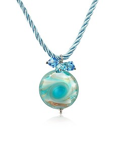 Vortice - Turquoise Murano Glass Small Swirling Bead Necklace - House of Murano