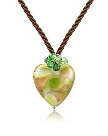 Vortice - Halskette mit Herzanhänger aus Muranoglas - House of Murano