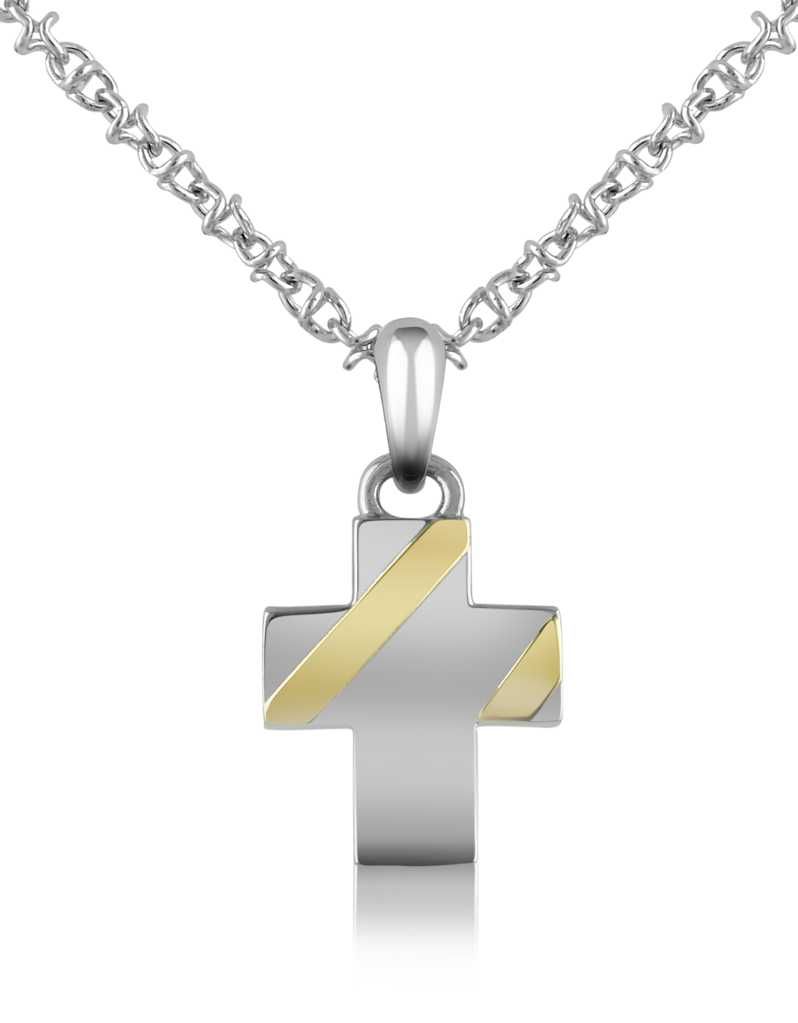 Image of Stainless Steel Cross Pendant Necklace