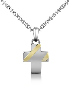 Stainless Steel Cross Pendant Necklace - Forzieri