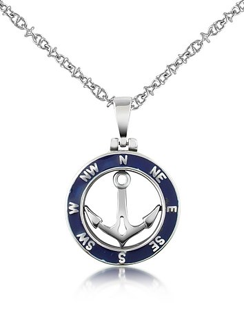 Stainless steel anchor pendant necklace from forzieri at forzieri stainless steel anchor pendant necklace aloadofball Images