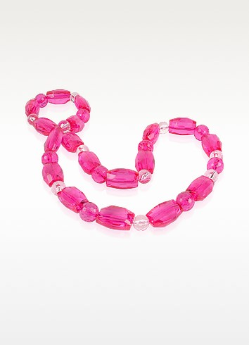Mystic Beads - Luck Fuchsia Faceted Bead Necklace - Forzieri