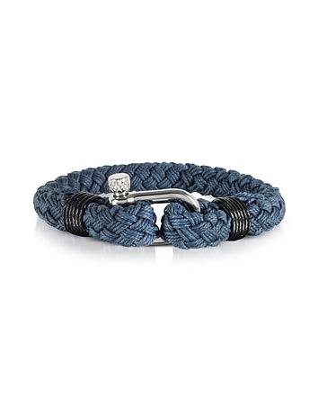 Navy Blue Woven Rope Men's Bracelet