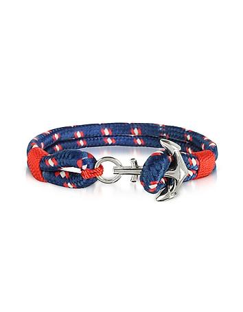 Blue and Red Men's Rope Bracelet