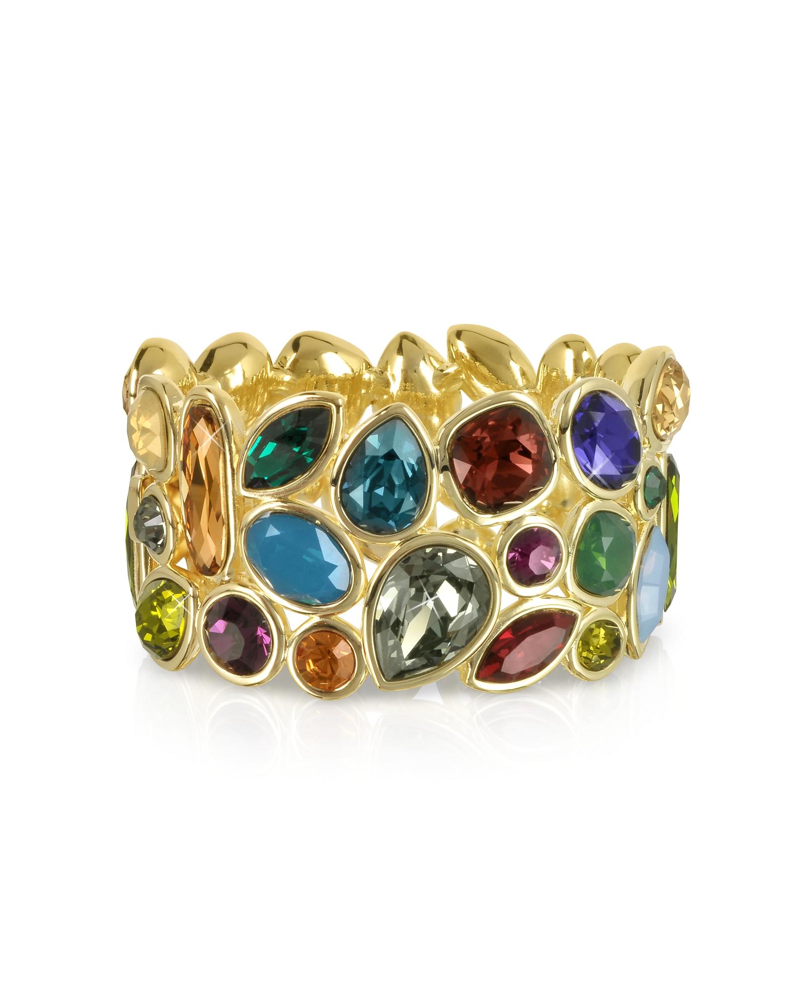 Фото Браслет из Металла с Разноцветными Кристаллами. Купить с доставкой